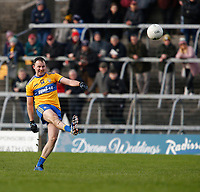 26th January 2020; TEG Cusack Park, Mullingar, Westmeath, Ireland; Allianz Football Division 2 Gaelic Football, Westmeath versus Clare; David Tubridy kicks a point for Clare