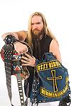 "Portrait session with Ozzy Osbourne guitarist, Zakk Wylde.  The shoot was done to promote Osbourne's new CD, ""Black Rain,"" which was released 5/22/07."
