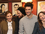 Katharine McPhee, Ben Thompson, Drew Gehling and  Sara Bareilles attend the Sardi's Portrait unveiling for Sara Bareilles  at Sardi's Restaurant on April 3, 2018 in New York City.