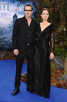 "Brad Pitt and Angelina Jolie arrives for the ""Maleficent"" costume display opening at Kensington Palace, London. 08/05/2014 Picture by: Steve Vas / Featureflash"