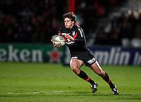 Photo: Richard Lane/Richard Lane Photography. Gloucester Rugby v Stade Toulouse. Heineken Cup. 20/01/2012. Luke Burgess of Toulouse attacks.