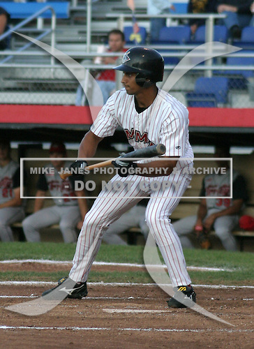 August 22, 2003:  Justin Mattison of the Jamestown Jammers during a game at Russell Diethrik Park in Jamestown, New York.  Photo by:  Mike Janes/Four Seam Images