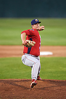 Williamsport Crosscutters relief pitcher Scott Harris (34) delivers a pitch during a game against the Auburn Doubledays on June 25, 2016 at Falcon Park in Auburn, New York.  Auburn defeated Williamsport 5-4.  (Mike Janes/Four Seam Images)