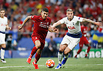 Liverpool's FC Roberto Firmino and Tottenham Hotspur FC's Toby Alderweireld during UEFA Champions League match, Final Roundl between Tottenham Hotspur FC and Liverpool FC at Wanda Metropolitano Stadium in Madrid, Spain. June 01, 2019.(Foto: nordphoto / Alterphoto /Manu R.B.)