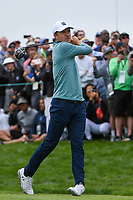Jordan Spieth (USA) watches his tee shot on 9 during round 1 of the 2019 US Open, Pebble Beach Golf Links, Monterrey, California, USA. 6/13/2019.<br /> Picture: Golffile | Ken Murray<br /> <br /> All photo usage must carry mandatory copyright credit (© Golffile | Ken Murray)
