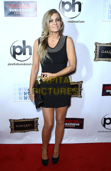 Carmen Electra .arrives for a night at the Gallery Nightclub at the Planet Hollywood Resort & Casino in Las Vegas, Nevada, USA, January 12th, 2013..full length dress shoes clutch bag  black sleeveless .CAP/ADM/MJT.© MJT/AdMedia/Capital Pictures.