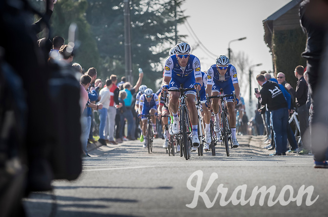 Iljo Keisse (BEL/QuickStep Floors) at the  front of the peloton<br /> <br /> E3 Harelbeke 2017
