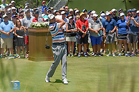 Marc Leishman (AUS) watches his tee shot on 1 during round 1 of the AT&T Byron Nelson, Trinity Forest Golf Club, at Dallas, Texas, USA. 5/17/2018.<br /> Picture: Golffile | Ken Murray<br /> <br /> <br /> All photo usage must carry mandatory copyright credit (© Golffile | Ken Murray)