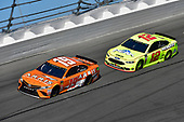 Monster Energy NASCAR Cup Series<br /> Daytona 500<br /> Daytona International Speedway, Daytona Beach, FL USA<br /> Sunday 18 February 2018<br /> Daniel Suarez, Joe Gibbs Racing, ARRIS Toyota Camry, Ryan Blaney, Team Penske, Menards/Peak Ford Fusion<br /> World Copyright: Logan Whitton<br /> LAT Images
