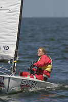 20th SPA Regatta - Medemblik.26-30 May 2004..Copyright free image for editorial use. Please credit Peter Bentley..Marie Ohrn - SWE
