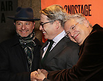 Fisher Stevens, Matthew Broderick and Harvey Fierstein attends the Off-Broadway Opening Night performance of the Second Stage Production on 'Torch Song'  on October 19, 2017 at Tony Kiser Theater in New York City.