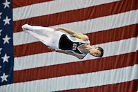 LOUISVILLE, Ky., July 19, 2014 - Jeffrey Gluckstein of Elite Trampoline, NJ,  won his second straight and third overall U.S. trampoline title, tallying a 212.925 to clinch the title at the 2014 USA Gymnastics Championships at the KFC Yum! Center.
