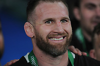 Kieran Read (c) of New Zealand looks happy after winning the Quilter International match between England and New Zealand at Twickenham Stadium on Saturday 10th November 2018 (Photo by Rob Munro/Stewart Communications)