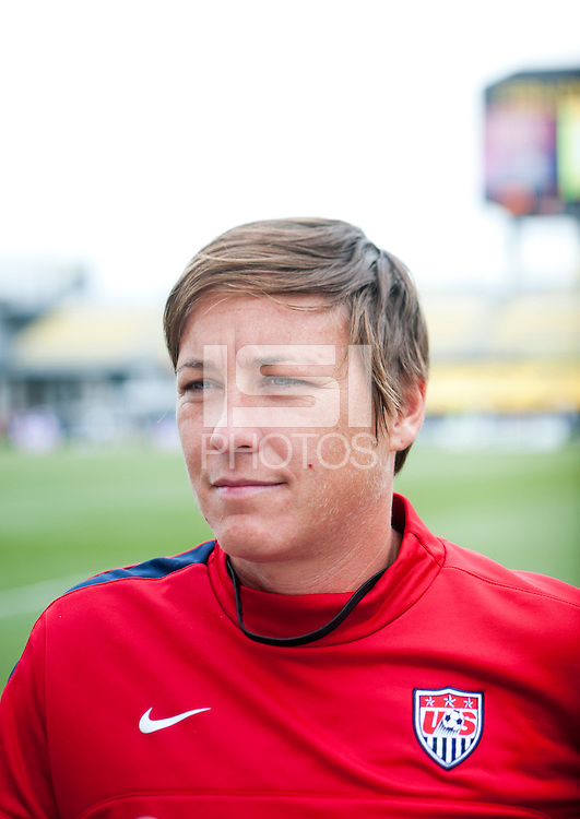 Abby Wambach.   The USWNT held a public training at Crew Stadium in Columbus, OH.