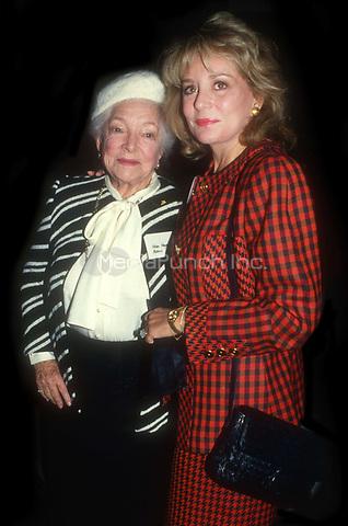 Helen Hayes Barbara Walters 1990<br /> Photo By John Barrett/PHOTOlink.net / MediaPunch