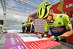 Neri Sottoli&ndash;Selle Italia&ndash;KTM at sign on before the start of Stage 4 of Il Giro di Sicilia 2019 running 119km from Giardini Naxos to Mount Etna (Nicolosi), Italy. 6th April 2019.<br /> Picture: LaPresse/Massimo Paolone | Cyclefile<br /> <br /> All photos usage must carry mandatory copyright credit (&copy; Cyclefile | LaPresse/Massimo Paolone)