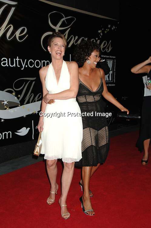 Hannah Storm and Rene Syler..arriving at The 31st Annual American Women in Radio & Television's Gracie Allen Awards on June 19, 2006 at..The Marriott Marquis Hotel. ..Robin Platzer, Twin Images