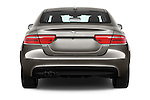 Straight rear view of 2017 Jaguar XE 4dr-Sdn-20d-R-Sport-RWD 4 Door Sedan Rear View  stock images