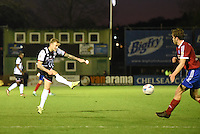 Richard Tait of Grimsby Town shoots for goal during the Vanarama National League match between Aldershot Town and Grimsby Town at the EBB Stadium, Aldershot, England on 5 April 2016. Photo by Paul Paxford / PRiME Media Images.