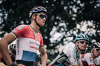 Dutch CX Champion Mathieu van der Poel (NED/Beobank-Corendon) at the start of the first race of the new season; a first in 3 seasons.<br /> <br /> CX Brico Cross Eeklo 2017 (BEL)