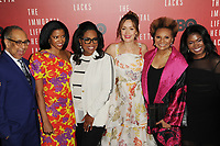 www.acepixs.com<br /> April 18, 2017  New York City<br /> <br /> George C. Wolfe, Renee Elise Goldsberry, Oprah Winfrey, Rose Byrne, Leslie Uggams and Kyanna Simone attending 'The Immortal Life of Henrietta Lacks' premiere at SVA Theater on April 18, 2017 in New York City.<br /> <br /> Credit: Kristin Callahan/ACE Pictures<br /> <br /> <br /> Tel: 646 769 0430<br /> Email: info@acepixs.com