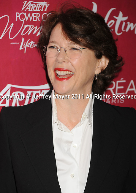 BEVERLY HILLS, CA - SEPTEMBER 23: Annette Bening arrives at the 3rd Annual Variety's Power of Women Event presented by Lifetime at the Beverly Wilshire Four Seasons Hotel September 23, 2011 in Beverly Hills, United States.