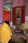 Jerusalem.A prayer at the Ethiopian Church was built between 1873 and 1911<br />