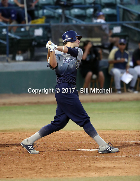 JT Schwartz plays in the 2017 Area Code Games on August 6-10, 2017 at Blair Field in Long Beach, California (Bill Mitchell)
