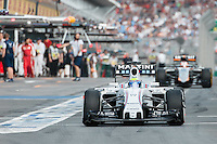 March 14, 2015: Felipe Massa (BRA) #19 from the Williams Martini Racing team leaves the pits for qualification at the 2015 Australian Formula One Grand Prix at Albert Park, Melbourne, Australia. Photo Sydney Low