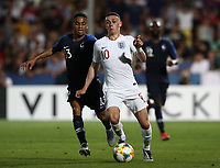 Football: Uefa under 21 Championship 2019, England - France, Dino Manuzzi stadium Cesena Italy on June18, 2019.<br /> England's Phil Foden (r) in action with France's  Fodé Ballo-Touré (l) during the Uefa under 21 Championship 2019 football match between England and France at Dino Manuzzi stadium in Cesena, Italy on June18, 2019.<br /> UPDATE IMAGES PRESS/Isabella Bonotto