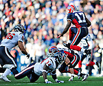 1 November 2009: Buffalo Bills' wide receiver Justin Jenkins jumps for yardage in the third quarter against the Houston Texans at Ralph Wilson Stadium in Orchard Park, New York, USA. The Texans defeated the Bills 31-10. Mandatory Credit: Ed Wolfstein Photo