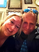 Pictured: Boudicca Scherazade (L), image found on her unlocked social media page<br /> Re: A Storage Hunters star is in court accused of bombarding a younger antiques dealer with kinky texts and voice messages in a three-year stalking campaign.<br /> 47 year old Boudicca Scherazade, who has appeared in the UK version of the popular US show, allegedly fell for Laurence Roche after meeting him through work but became enraged when he didn't return her affection.<br /> The trial at St Albans Magistrates Court continues.