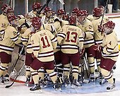 - The Boston College Eagles defeated the visiting University of New Hampshire Wildcats 4-3 on Friday, January 27, 2012, in the first game of a back-to-back home and home at Kelley Rink/Conte Forum in Chestnut Hill, Massachusetts.