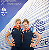 Olympic Games London 2012 <br /> THE Team GB SYNCHRONISED SWIMMING TEAM<br />  pre-competition press briefing with <br /> <br /> Jenna Randall<br /> and<br /> Olivia Federici<br /> <br /> <br /> Photograph by Elliott Franks