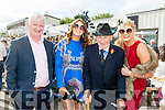 Enjoying Ladies Day at the Listowel Races on Friday were: Ted Hurlihy, Aoife Larkin, Joe Broderick, Moira O'Leary from Ballymac