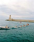 FRANCE, Nice, young sailors returning from a regatta, Club de la Mar