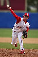 March 23, 2010:  Pitcher Drew Rucinski of the Ohio State University Buckeyes during a game at the Chain of Lakes Stadium in Winter Haven, FL.  Photo By Mike Janes/Four Seam Images