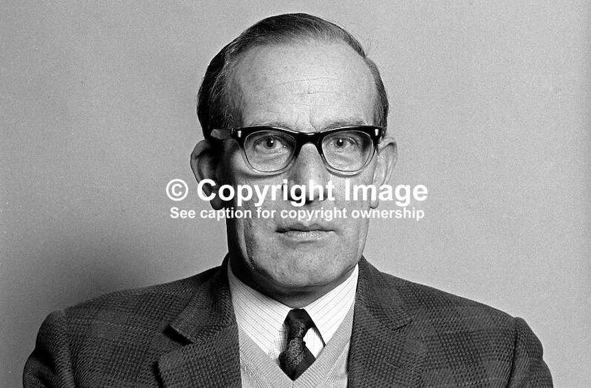 Norman Shannon, member, Belfast Corporation, N Ireland, UK, Ulster Unionist, politician, 197101010028NS2<br />