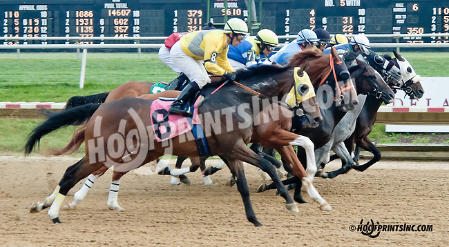 Quarterback Sneak winning at Delaware Park on 9/21/13