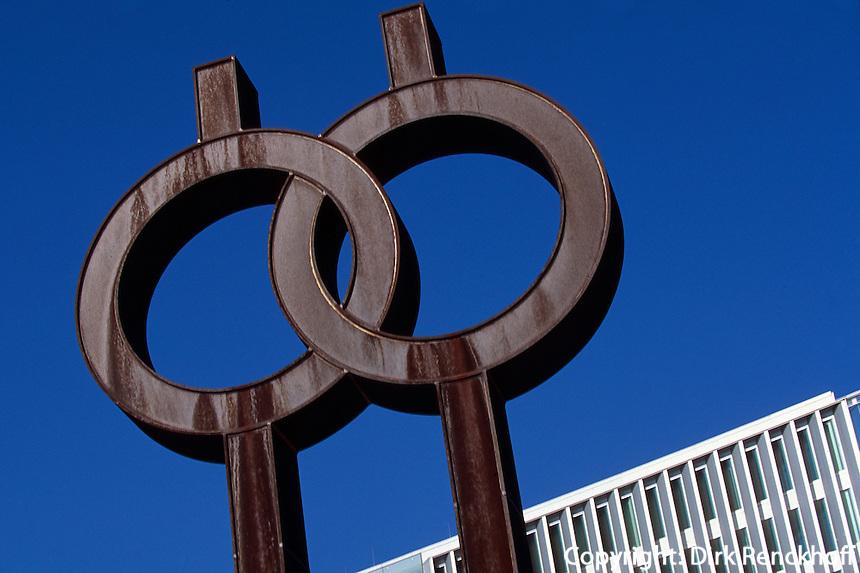 Skulptur vor Deichtorhallen, Hamburg, Deutschland