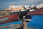 Fishing boats at the waterfront, Essaouira, Morocco