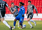St Johnstone v St Mirren....22.01.11  .Collin Samuel is stopped in his tracks by Steven Thomson.Picture by Graeme Hart..Copyright Perthshire Picture Agency.Tel: 01738 623350  Mobile: 07990 594431