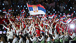 Olympic games London 2012.Opening ceremony.Olimpijski tim Srbije Olympic team of Serbia.Novak Djokovic nosi zastavu Srbije with flag of Serbia.London, 27.07.2012..foto: Srdjan Stevanovic/Starsportphoto ©