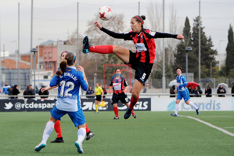 Spanish Women's Football League Iberdrola 2017/18 - Game: 18.<br /> RCD Espanyol vs Sporting Huelva: 1-0.<br /> Deborah Salvatori vs Cinta Rodriguez.