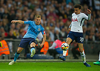 Newcastle's Matt Ritchie and Tottenham's Dele Alli<br /> during the EPL - Premier League match between Tottenham Hotspur and Newcastle United at Wembley Stadium, London, England on 9 May 2018. Photo by Andrew Aleksiejczuk / PRiME Media Images.