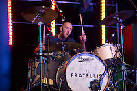 Mince Fratelli (born Gordon McRory) of The Fratellis performs at AmpRocks 2016 at Ampthill Great Park, Ampthill, England on 1 July 2016. Photo by David Horn.