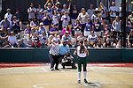 21 MAY 2016:  Anna Gayle Norris (26) of the University of North Alabama hits against Humboldt State University during the Division II Women's Softball Championship held at the Regency Athletic Complex on the Metro State University campus in Denver, CO.  North Alabama defeated Humboldt State 10-1 to force a game three.  Jamie Schwaberow/NCAA Photos