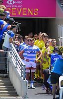Argentina v Australia men's pool match. Day one of the 2020 HSBC World Sevens Series Hamilton at FMG Stadium in Hamilton, New Zealand on Saturday, 25 January 2020. Photo: Dave Lintott / lintottphoto.co.nz
