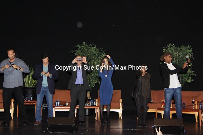 """- A Tribute to Pine Valley - All My Children's Alicia Minshew """"Kendall"""", Vincent Irizarry """"David"""", Darnell Williams """"Jesse"""", Debbi Morgan """"Angie"""", Walt Willey """"Jack"""" and Jacob Young """"ex JR and """"Rick Forrester"""" on The Bold and the Beautiful on February 16, 2013 with fans for Q&A, autographs, photos at Foxwoods Resorts Casino in Mashantucket, CT and February 17, 2013 at Valley Forge Casino Resort in King of Prussia, PA. (Photo by Sue Coflin/Max Photos)"""