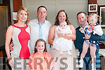 Baby Naiobh O'rourke, daughter of Edmund & Caroline O'Rourke, Ballyduff who was christened in St, Michael's Church, Lixnaw by Fr. Mossie Brick, PP , Lixnaw on Saturday last and afterwards at Lowe's Bar, Ballyduff. Goadparents are Karen Stack & Johnny O'Brien and sisters Saoirse & Aoife.